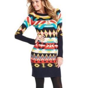 • Jessica Simpson Aztec Navajo Sweater Dress •